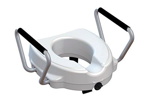 Toiletbril met afneembare armleuningen, hoogte cm verhoogd. 12.5