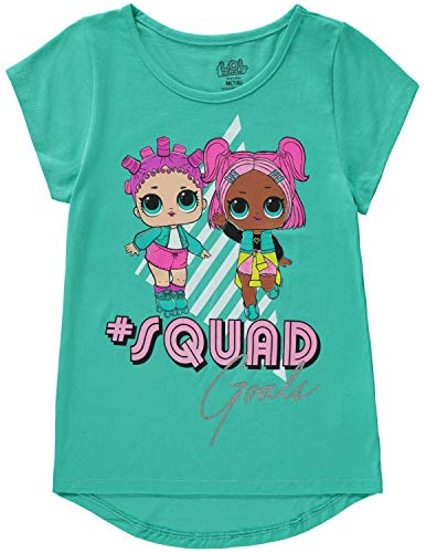 L.O.L. Surprise! Girls Squad Goals Short Sleeve Tee T Shirt Teal 4/5(XS)