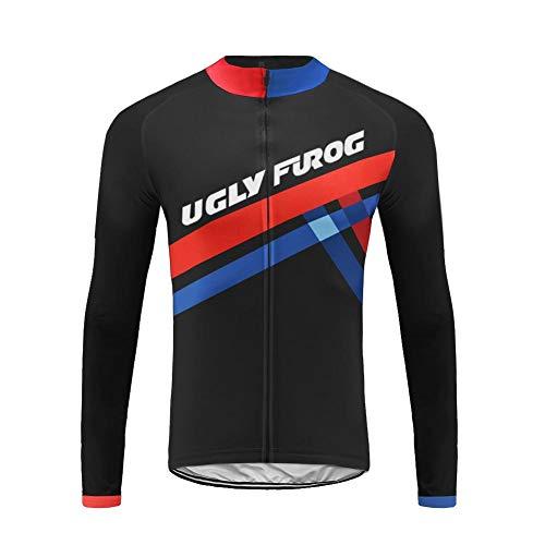 Uglyfrog Maillot de Ciclismo Ropa Ciclismo Conjunto para Hombre Culotte Manga Larga+ Pantalones Invierno Fleece Warm for Travel Wear/Parte Superior Separada ESH19LZRT05