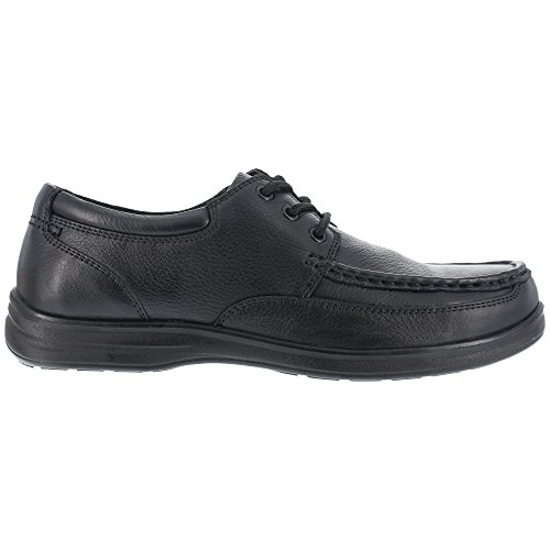 Florsheim Womens Black Leather Oxford Shoes Wily Moc Laceup Steel Toe 11.5 D