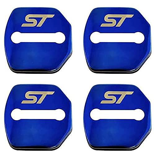 4 Piezas acero inoxidabl Cubierta de la Cerradura de Puerta de Coche para For-d Focus ST 2013-2018 Cubierta Protección Interior Accesorios