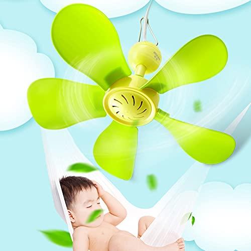 WWWRL 28cm Ventilador De Techo Pequeño, Mini Ventilador De 5 Aspas De Baja Velocidad, Ventilador De Techo para Bebé Seguro Y Silencioso, Varios Estilos