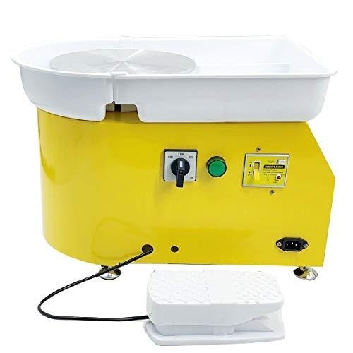 baratos y buenos Cozyel Rueda de cerámica eléctrica 350W 25cm 220V Máquina de moldeo de cerámica con pedal … calidad