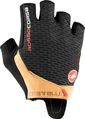 CASTELLI 4521024-120 ROSSO CORSA PRO V GLOVE Guanti ciclismo Uomo black/tan M