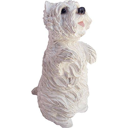 Sandicast Sculpture de Terrier Blanc de Taille Moyenne West Highland, Blanc/Blanc cassé., S Size