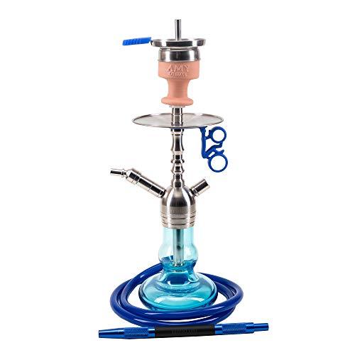 Amy Deluxe Shisha SS15 .03 Baby Tango, blau, 55 cm, Edelstahl, Wasserpfeife, Hookah