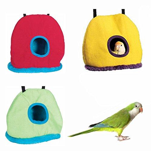 LA VIE Nido de Invierno para Pájaros Ratones Cueva Hamaca Cálido para Loro Hámster Tienda de Campaña Casa de Peluche para Animales Pequeños Bird Parrot House Accesorios de Jaula S Color Aleatorio