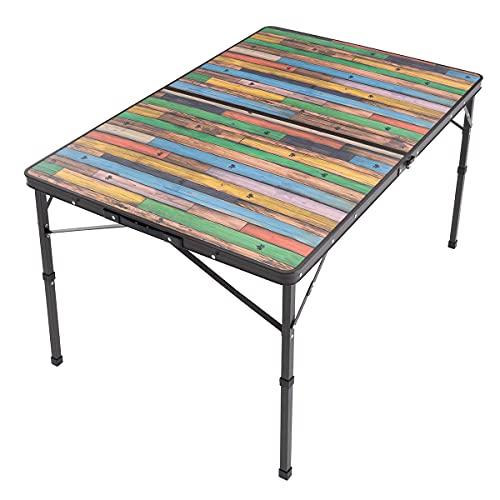 ロゴス Old Wooden 丸洗いダイニングテーブル 12080