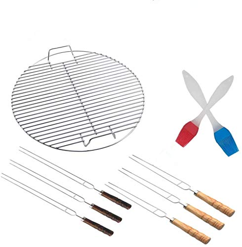 HUAXIONG Bbq Cooking Grate Barbecue sets Barbecue Grilling Rack BBQ Tool sets BBQ Fire Pit 44.5CM