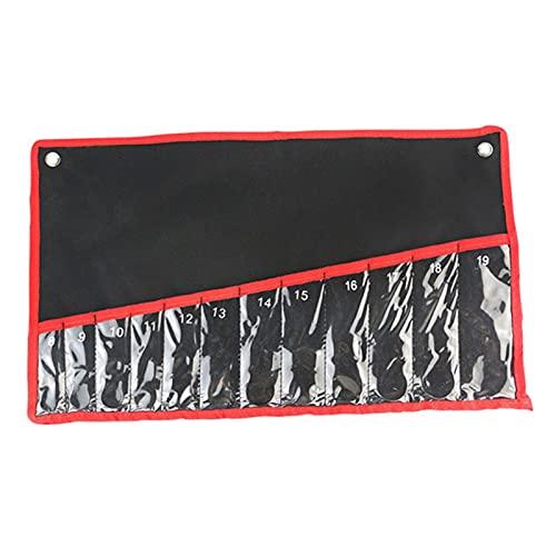Caja de Herramientas Llaves Herramienta Roll Up Bolsas de almacenamiento Organizador portátil Organizador de la bolsa Oxford Tela Herramientas Kit con bolsillo de llaves de lona de bolsillo Kit de her