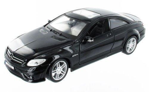 Maisto Mercedes CL63 AMG: Originalgetreues Modellauto 1:24, Türen und Motorhaube zum Öffnen, Fertigmodell, 20 cm, Schwarz (31297)