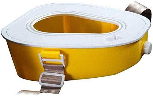 Aseo portátil Aseo-móvil Inodoro urinario Orinal portátil para Adultos/niños/Mujer Embarazada/Anciano para la Emergencia al Aire Libre Camping Senderismo Coche Viaje de Viaje Atasco-Amarill