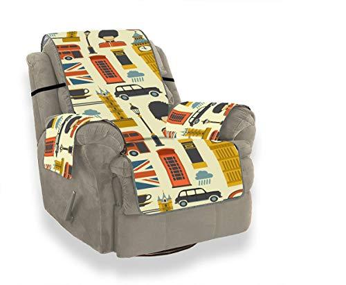 JOCHUAN Big Ben Red Bus Cab Und Britische Flagge Für Sofakissen T-Kissen Sofa Schonbezug Klappstuhl Schonbezug Möbel Beschützer Für Haustiere, Kinder, Katzen, Sofa