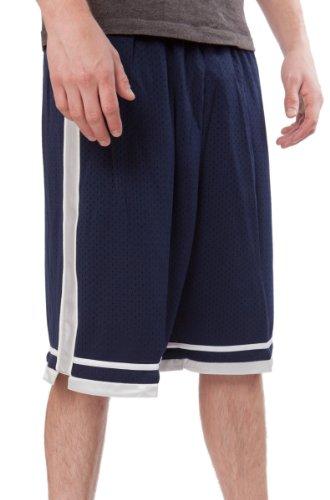 JJB Fußball - Basketball - Athletic - Elastische Taille längliche Netzhose für Jugendliche - Blau - Medium
