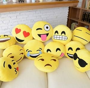 "Gloworks 12"" Emoji Pillow (Set of 20) Assorted Emojis"