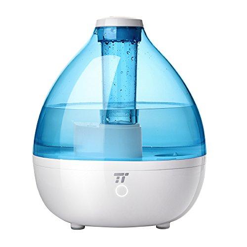 TaoTronics Luftbefeuchter Baby Endschalldämpfer Luftbefeuchter Baby 2,3l Ultraschall ohne BPA für Kinderzimmer, 2Modus Verbreitung von Nebel, Modus Schlaf null Störung, ohne Filter