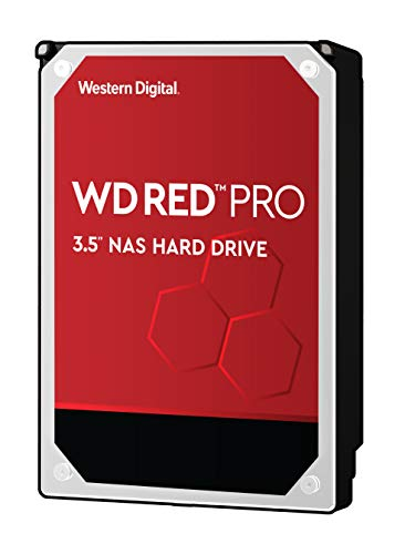 Western Digital WD Red PRO interne Festplatte 10 TB (3,5 Zoll, NAS Festplatte, 7200U/min, SATA 6 Gbit/s, NASware-Technologie, für NAS-Systeme im Dauerbetrieb, stoßfest) rot