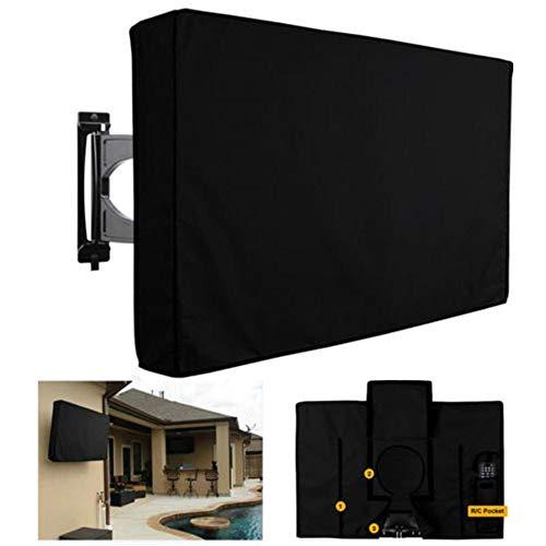 Y & Z Funda para TV de pantalla al aire libre a prueba de polvo, resistente al agua, funda para televisión, color negro Oxford (60 a 65 pulgadas)