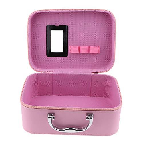 T TOOYFUL Voyage Maquillage Bijoux Bijoux Organisateur Articles De Toilette Cosmétiques Train Case W/Zipper - Rose