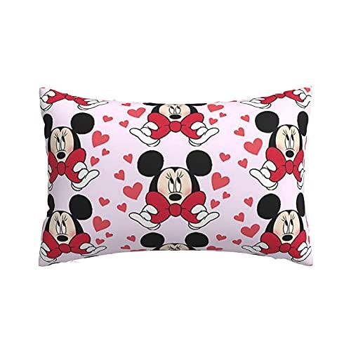 Bowknot Minnie - Fundas de almohada ligeras y supersuaves con cremallera, fundas de almohada para el hogar, sofá y ropa de cama