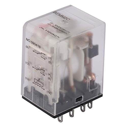 Relé intermedio - 24VAC/110VAC BEMM2C 8 pines 5A Mini relé intermedio de potencia Relé electromagnético(110VAC)