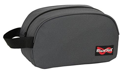 BlackFit8 grote culurtas van robuust nylon, toilettas met ritssluiting en praktische lus om te dragen of op te hangen Afmetingen: 26 x 12 x 15 cm