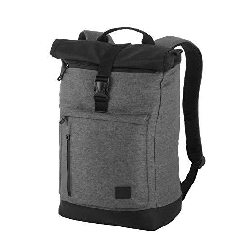 Rada Rucksack RS/38, Freizeitrucksack mit Laptop/Tablet-Fach, DIN A4 Ordner kompatibler Kurierr-Bag für Mädchen und Jungen, wasserabweisender Daypack, Damen und Herren (Middle Grey Soft)