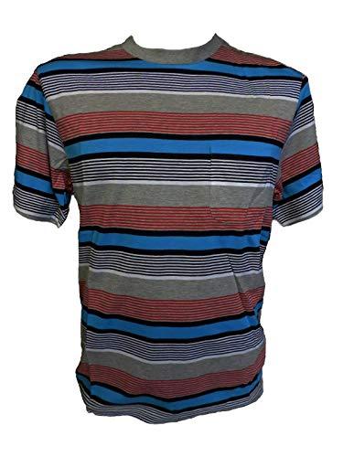Inconnu Heiko T-Shirt à Rayures pour Homme Taille 50 - Bleu - 1 Mois