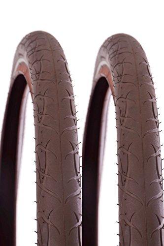 Vredestein 700 x 47c Puncture Resistant Reflective Retro Brown Hybrid Bike Tyres (One Tyre)