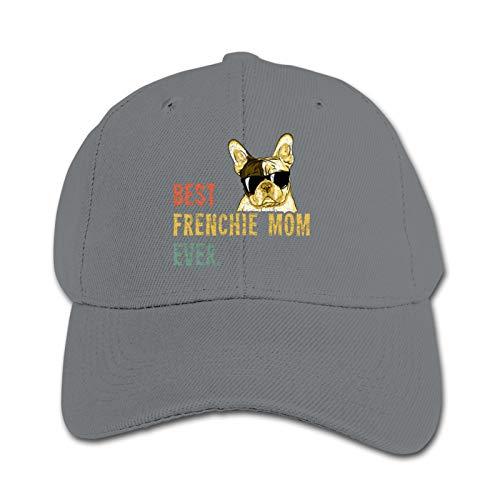 Gray Child Baseball Best Frenchie Mom Ever Hats Kids Sun Caps Adsjutable Unisex Trucker Hats
