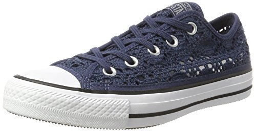 Converse Damen All Star Ox Crochet Low-top, blau, 36.5 EU