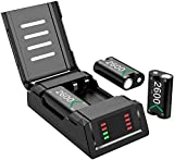 Battery Pack for Xbox One Series X S Controller, iWOWnfit Charging Station Dock with 3x2600mAh Rechargeable Batteries Pack for Xbox Series X|S, Xbox One/Xbox One S/Xbox One X/Xbox One Elite