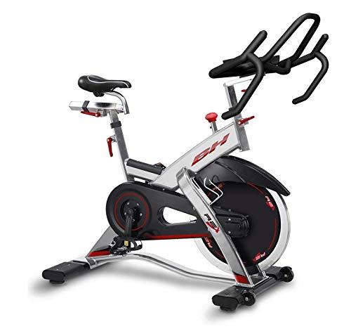 Bicicleta Ciclismo Indoor BH REX - volante de inercia de 20 kg - freno por fricción - ruedas de transporte - transmisión mediante correa poly-V - uso Profesional