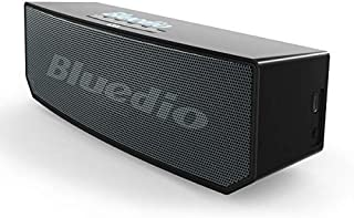Bluedio BS-6 Bluetooth Speaker, Portable Wireless Bluetooth 5.0 Speakers with Bulit-in Mic,Smart Speaker with Alexa voice control built-In,High-performance 3-magnet drivers Bass Stereo Soundbar incredible sound for any room&outdoor [Black]