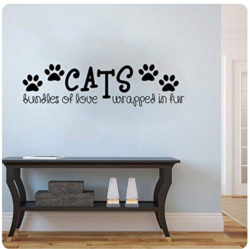 Cats Bundles of Love Wrapped in Fur Sticker mural