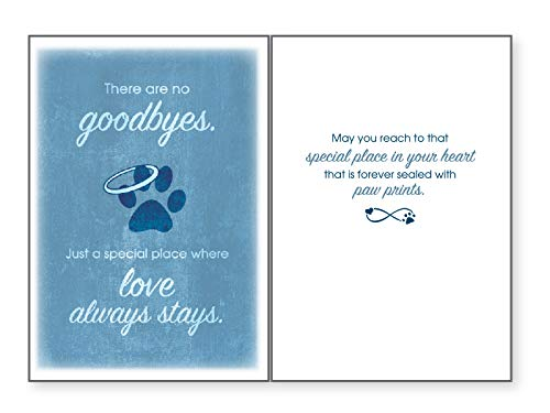 Dog Speak There Are No Goodbyes. Just A Special Place Where Love Always Stays. - Death Loss of Pet Sympathy Card