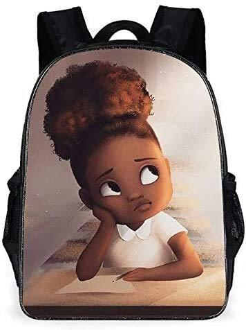 Chop Your ya Boy School Bag Girls African Girl Caricature Shoulder Bag Chop Your ya (Color : 7)