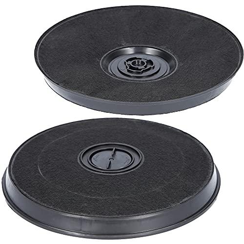 2x Filtro de carbón activado Ø 230 mm para campanas extractoras adecuado para 11005728 + 11005732 + DHZ2701/01 + 9029793594, para campana extractora Bosch, Siemens, AEG, Whirlpool, Faber