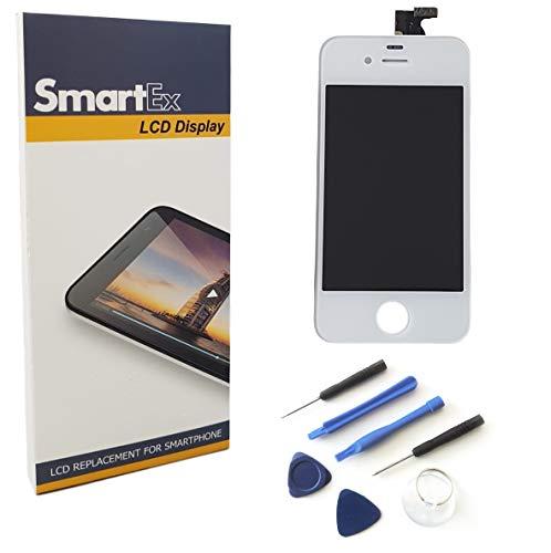 Smartex® Display Bianco Compatibile con iPhon 4S Touch Screen Schermo LCD Retina + Toolkit Incluso