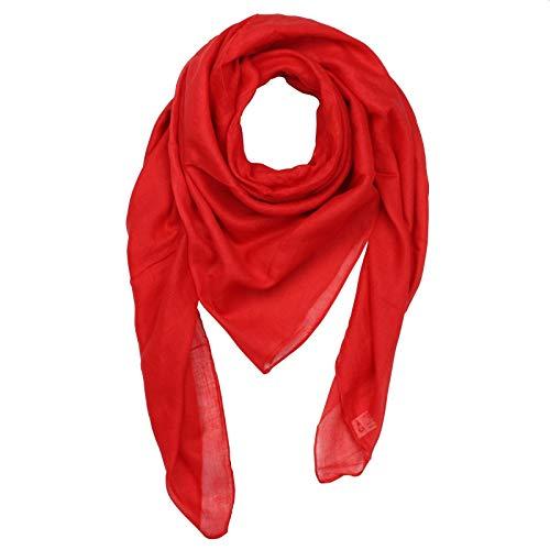 Superfreak Baumwolltuch - Tuch - Schal - 100x100 cm - 100% Baumwolle Farbe rot