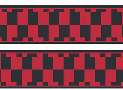 wandmotiv24 Bordüre Atztekenmuster 260cm Breite - Selbstklebend Borte Tapetenbordüre Bordüren Borde Wandborde Mexiko Abstrakt rot M0080