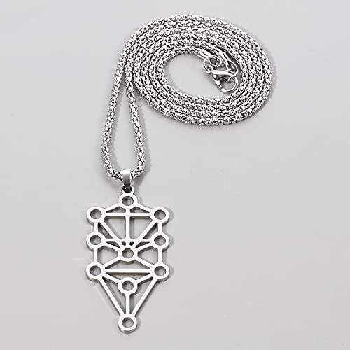 YUNMENG Collar de Buda de Equilibrio curativo de 7 Chakra Reiki, Collar de Yoga de Acero Inoxidable Hueco para Mujeres y Hombres, Collar de Cadena, Regalos de joyería