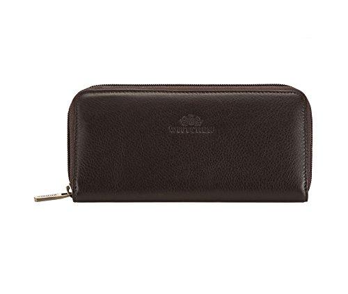 WITTCHEN Elegante Geldbörse Damen/Geldbeutel Portemonnaie aus Leder 19x9cm 02-1-393-4