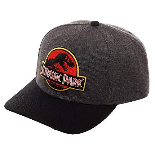 Jurassic Park Vintage Logo Snapback Hat with Pre-Curved Bill