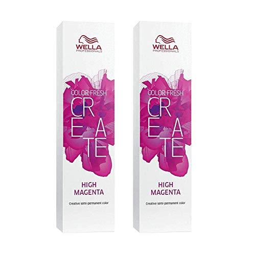 2 er Pack Wella Color Fresh Create direktziehende Tönung High Magenta 60 ml