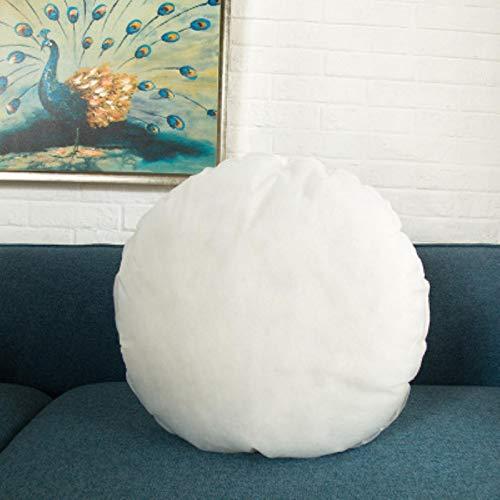 CHUYU Funda de Almohada con borlas de algodón de Lino Beige, Funda de cojín Lumbar Redonda, Funda de Almohada Decorativa para el hogar, Relleno de 45X45cm