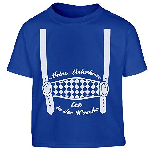 Oktoberfest Jungen Lederhose in der Wäsche Kleinkind Kinder T-Shirt 116 Blau