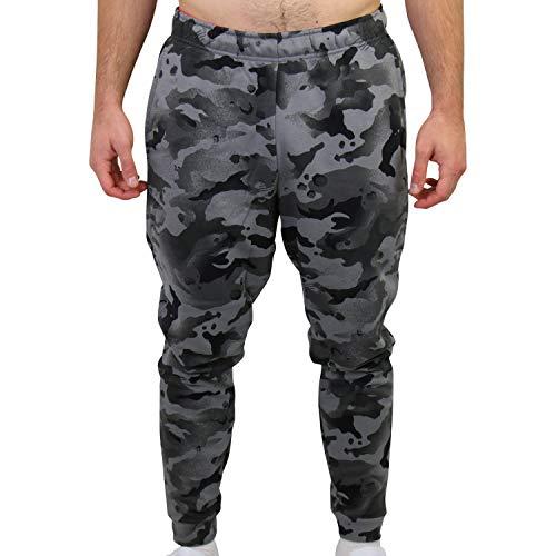 NIKE Pantalones de chándal Dry TPR Camo para Hombre, Hombre, Pantalones Deportivos, CU6200, Color Negro y Gris, Large