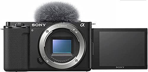 Sony Alpha ZV-E10 - Vlog Camera ad OtticheIntercambiabili, APS-C, Schermo ad Angolazione Variabile per Vlog, Video 4K, Real-Time Eye Autofocus, ZVE10