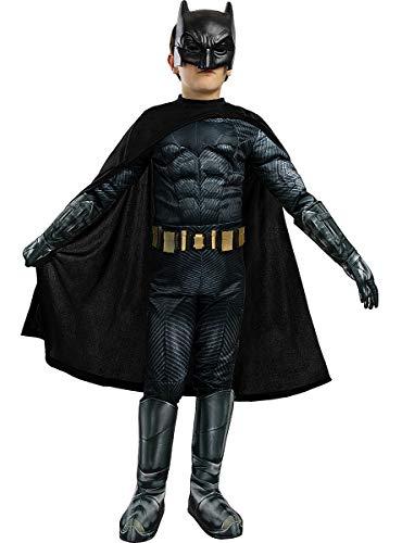 Funidelia | Batman Kostüm Deluxe - Gerechtigkeitsliga OFFIZIELLE für Jungen Größe 5-6 Jahre ▶ The Dark Knight (Der dunkle Ritter), Superhelden, DC Comics, Fledermausmann - Bunt